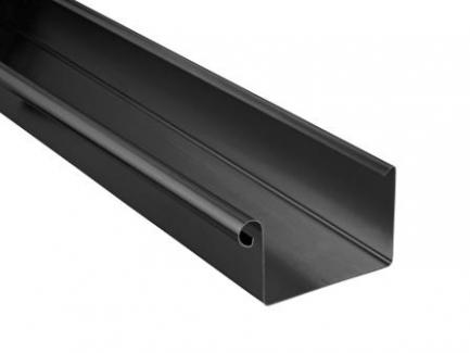 Firkantede tagrender i sort zink 333 - 400 mm.