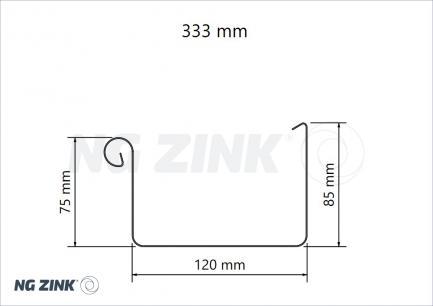 Massivt Tagrende firkantet zink pro - NG ZINK A/S NE55